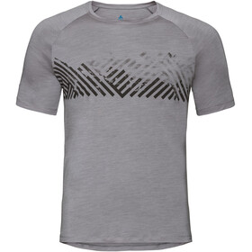 Odlo BL Concord SS Top Crew Neck Men grey melange-mountain stripe SS19